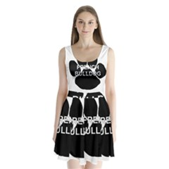 French Bulldog Name Mega Paw Split Back Mini Dress