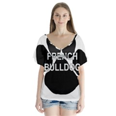 French Bulldog Name Mega Paw Flutter Sleeve Top