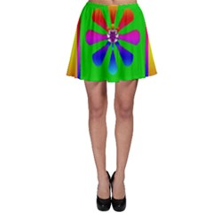 Flower Mosaic Skater Skirt