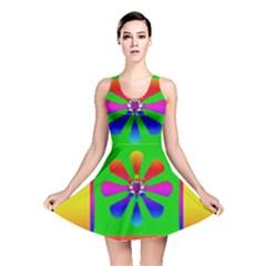 Flower Mosaic Reversible Skater Dress