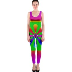 Flower Mosaic Onepiece Catsuit