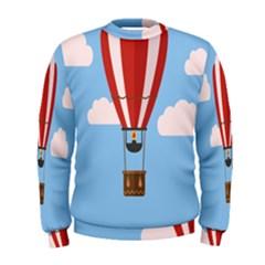 Air Ballon Blue Sky Cloud Men s Sweatshirt