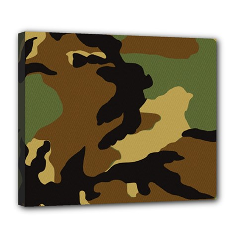 Army Camouflage Deluxe Canvas 24  x 20