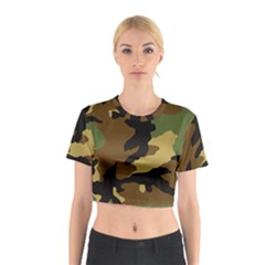 Army Camouflage Cotton Crop Top