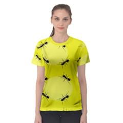 Ant Yellow Circle Women s Sport Mesh Tee
