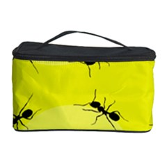 Ant Yellow Circle Cosmetic Storage Case