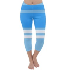 Blue Horizon Graphic Simplified Version Capri Winter Leggings
