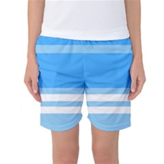 Blue Horizon Graphic Simplified Version Women s Basketball Shorts