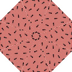 Ant Red Gingham Woven Plaid Tablecloth Golf Umbrellas