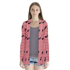 Ant Red Gingham Woven Plaid Tablecloth Cardigans