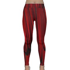 Black Red Flower Bird Feathers Animals Classic Yoga Leggings
