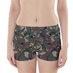 Army Shirt Grey Green Blue Boyleg Bikini Wrap Bottoms