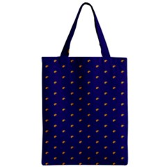 Blue Yellow Sign Zipper Classic Tote Bag