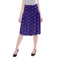 Blue Yellow Sign Midi Beach Skirt