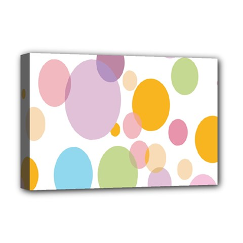 Bubble Water Yellow Blue Green Orange Pink Circle Deluxe Canvas 18  x 12