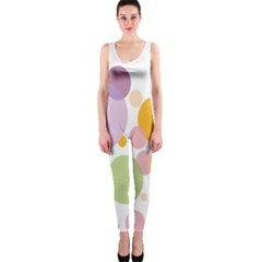 Bubble Water Yellow Blue Green Orange Pink Circle OnePiece Catsuit