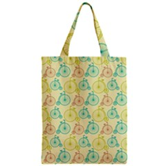 Wheel Bike Round Sport Color Yellow Blue Green Red Pink Zipper Classic Tote Bag