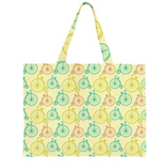 Wheel Bike Round Sport Color Yellow Blue Green Red Pink Large Tote Bag