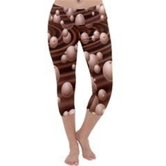 Choco Bubbles Capri Yoga Leggings