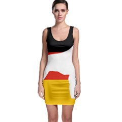 German Wirehaired Pointer Silo On Flag Sleeveless Bodycon Dress