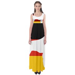 German Wirehaired Pointer Silo On Flag Empire Waist Maxi Dress