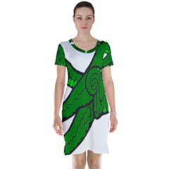 Tentacle Monster Green  Short Sleeve Nightdress