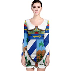 Coat of Arms of Cuba Long Sleeve Bodycon Dress
