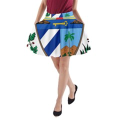 Coat of Arms of Cuba A-Line Pocket Skirt