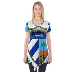 Coat of Arms of Cuba Short Sleeve Tunic