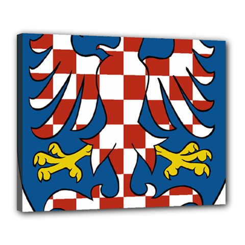 Moravia Coat of Arms  Canvas 20  x 16