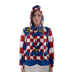 Moravia Coat of Arms  Hooded Wind Breaker (Women)