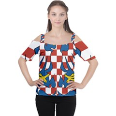 Moravia Coat of Arms  Women s Cutout Shoulder Tee