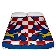 Moravia Coat of Arms  Fitted Sheet (California King Size)