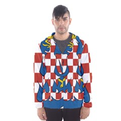 Moravia Coat of Arms  Hooded Wind Breaker (Men)
