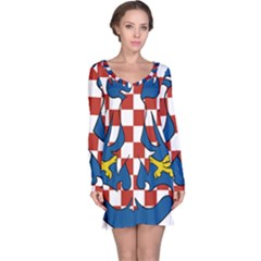 Moravia Coat of Arms  Long Sleeve Nightdress