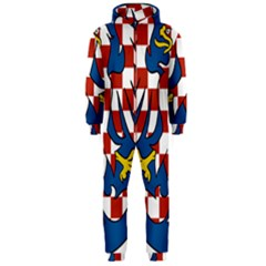 Moravia Coat of Arms  Hooded Jumpsuit (Men)