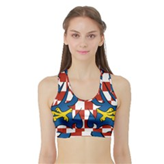 Moravia Coat of Arms  Sports Bra with Border
