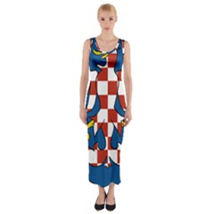 Moravia Coat of Arms  Fitted Maxi Dress