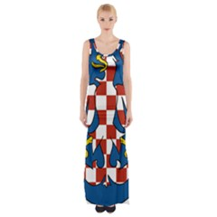 Moravia Coat of Arms  Maxi Thigh Split Dress
