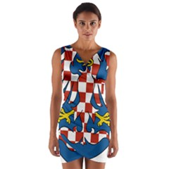 Moravia Coat of Arms  Wrap Front Bodycon Dress