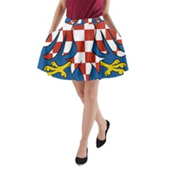 Moravia Coat of Arms  A-Line Pocket Skirt