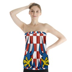 Moravia Coat of Arms  Strapless Top