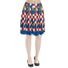 Moravia Coat of Arms  Pleated Skirt