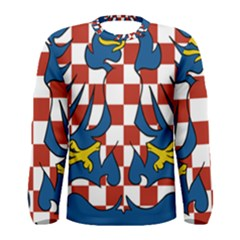 Flag of Moravia  Men s Long Sleeve Tee