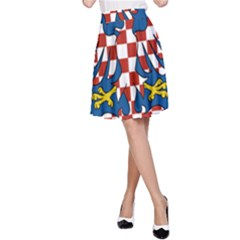 Flag of Moravia  A-Line Skirt