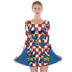 Flag of Moravia  Long Sleeve Skater Dress