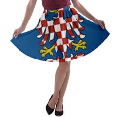 Flag of Moravia  A-line Skater Skirt