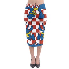 Flag of Moravia  Midi Pencil Skirt