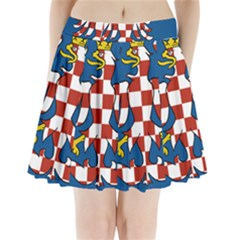 Flag of Moravia  Pleated Mini Skirt