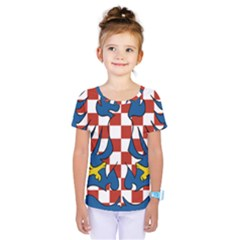 Flag of Moravia  Kids  One Piece Tee